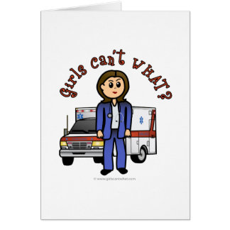 Light EMT Paramedic Girl Card