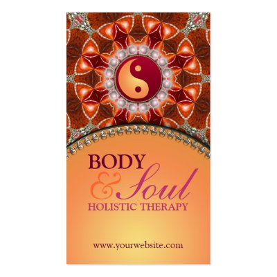 Light Energy New Age Holistic Business Card