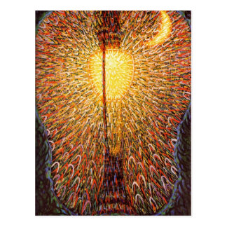 Light Explosion Art Postcard