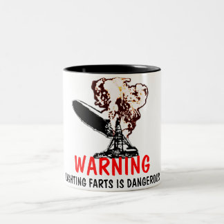 Light farts Two-Tone coffee mug