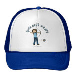 Light Female Archery in Blue Mesh Hat