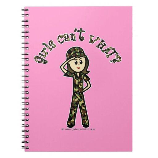 Light Female Army Girl Notebooks