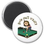 Light Female Billiards Player Fridge Magnet