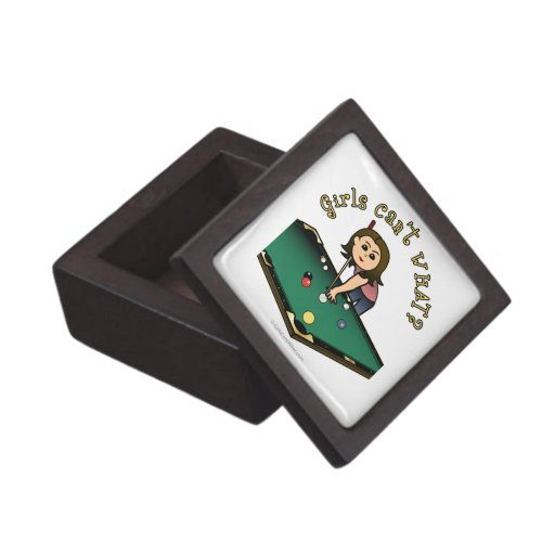 Light Female Billiards Player Premium Gift Boxes