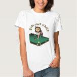 Light Female Billiards Player Shirts
