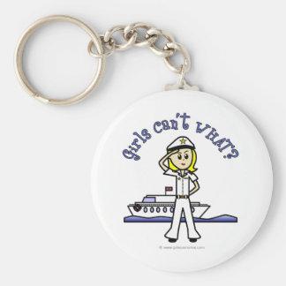 Light Female Captain Key Chain