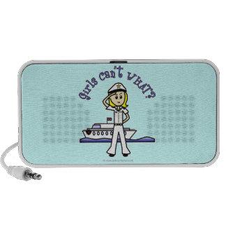 Light Female Captain Portable Speaker