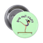 Light Female Gymnast on Balance Beam Buttons
