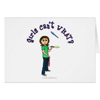 Light Female Juggler Cards