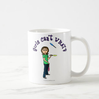 Light Female Juggler Coffee Mug