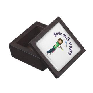 Light Female Juggler Premium Keepsake Box