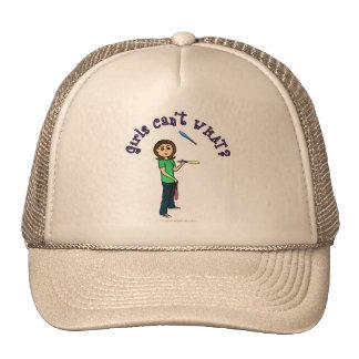 Light Female Juggler Trucker Hat