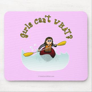 Light Female Kayaker Mouse Pad