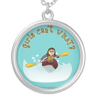 Light Female Kayaker Custom Jewelry