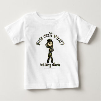 Light Female Navy Veteran Baby T-Shirt