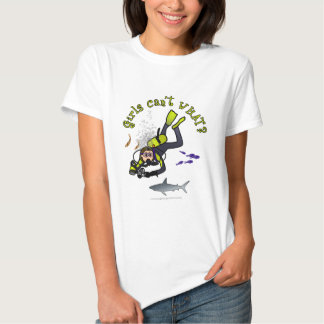 Light Female Scuba Diver T Shirts