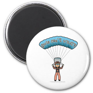 Light Female Sky Diver Magnet