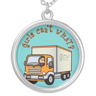 Light Female Truck Driver Pendant