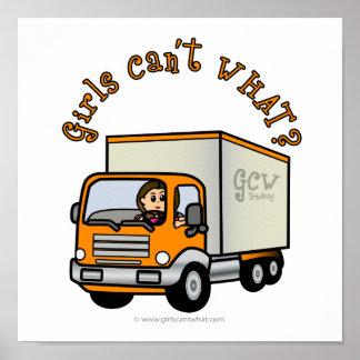 Light Female Truck Driver Poster