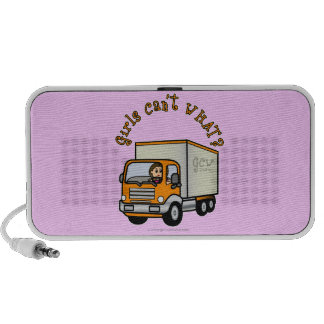 Light Female Truck Driver Laptop Speakers