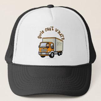 Light Female Truck Driver Trucker Hat