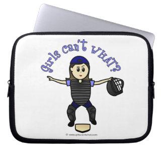 Light Female Umpire Laptop Sleeve