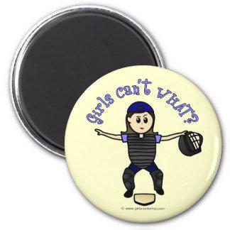Light Female Umpire Magnet