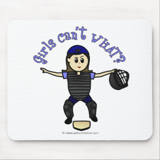 Light Female Umpire Mouse Pad