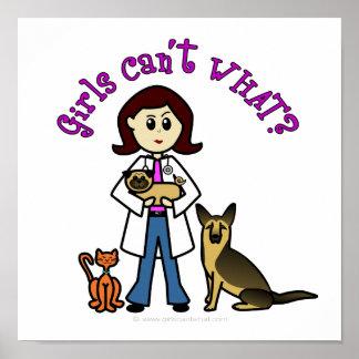 Light Female Veterinarian Poster