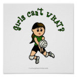 Light Female Volleyball Player in Green Uniform Poster