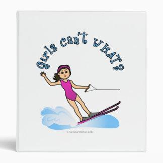 Light Female Water Skier Binders