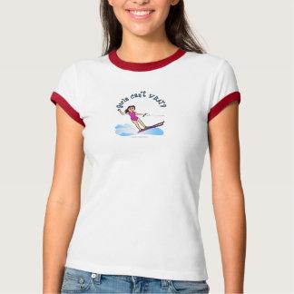 Light Female Water Skier T-Shirt