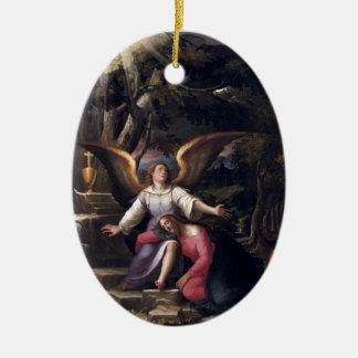 Light Filters Down in Gethsemane Ceramic Ornament