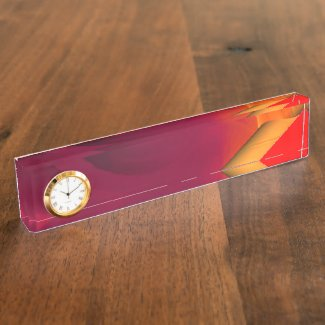 Light Fire Twirl Page Curl Desk Name Plate