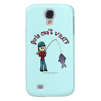 Light Fishing Girl Galaxy S4 Cover