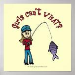 Light Fishing Girl Poster