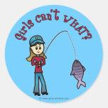 Light Fishing Girl Stickers
