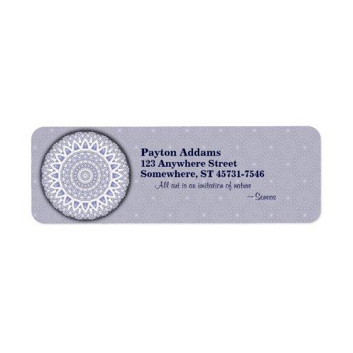 Light Flake Mandala • Avery Label