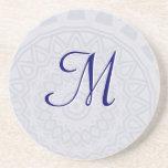 Light Flake Mandala Monogram Coaster