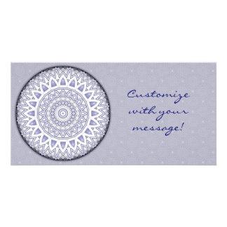 Light Flake Mandala Photo Card