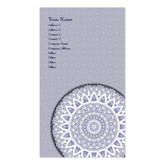 Light Flake Mandala • Vertical Business Card