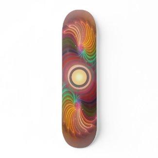 'Light Flame Abstract 115' skateboard deck skateboard