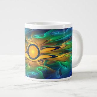 'Light Flame Abstract 163' Large Coffee Mug