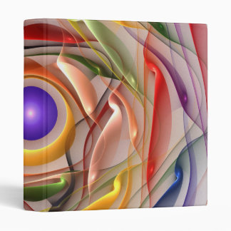 'Light Flame Abstract 258' 3 Ring Binder