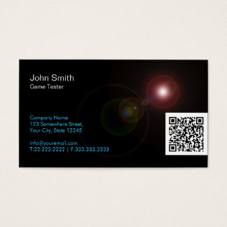 Light Flares Game Testing Business Card