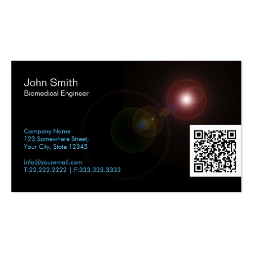Light Flares QR Biomedical Business Card
