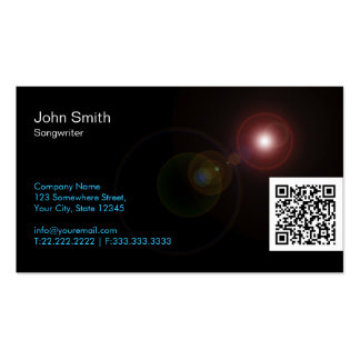 Light Flares QR Songwriter Business Card