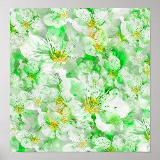 Light Floral Collage Poster