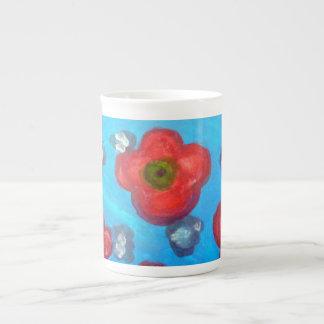 Light Floral Lady Mug