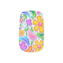 light floral minx nail art